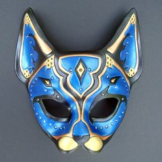 Blue Persian Cat Mask by merimask.deviantart.com on @DeviantArt