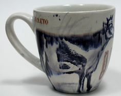 """""""Obsoleto/Obsolete"""" Ceramic Cup, Hand made, signed and dated by Mexican Artist: M Pena"""