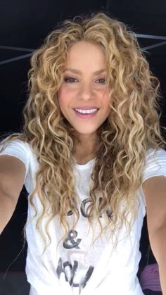 We are in love with Shakeria' s curly blond hair. Give us a call on: 01227 636686 for your curly hair colour today!