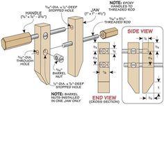 DIY wood clamp plan, straight forward and very handy
