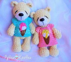 Плюшевые мишки | Вязание для детей | Вязание спицами и крючком. Схемы вязания.