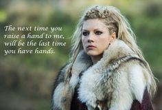 The Raid Continues! 'Vikings' Renewed For Season --- Break out those swords, shields and longboats — word is we get to raid with History's Vikings for a 20 episode-long season! - Photo: Katheryn Winnick plays Queen Lagertha in VIKINGS Vikings Lagertha, Norse Vikings, Lagertha Lothbrok, Lagertha Hair, Vikings Tv Show, Vikings Tv Series, Watch Vikings, Viking Warrior, Tattoos