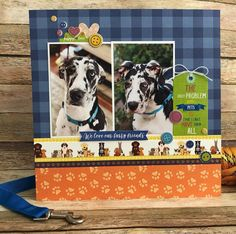 Dog Scrapbook Layouts, Scrapbook Albums, Scrapbooking Ideas, Multi Photo, Cardmaking, Fun Stuff, Paper Crafts, Base, Pets
