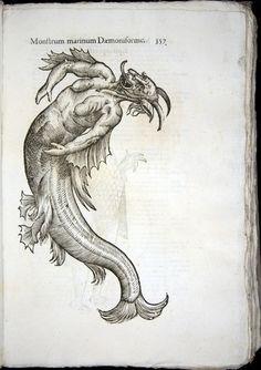 Monstrorum Historia . Ulisse Aldrovandi . 1570