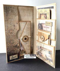 Bullet Journal Ideas Pages, Junk Journal, Photo Album Scrapbooking, Mini Scrapbook Albums, Tutorial Scrapbook, Mini Album Tutorial, Scrapbook Journal, Book Making, Mini Books