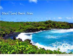 Black Sand Beach, Maui, Hawaii