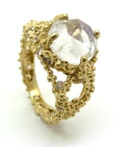 @Polly Wales Jewellery   Single Solomon ring in moonstone