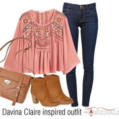 Davina Claire inspired outfit/TO by tvdsarahmichele on Polyvore featuring MANGO, Frame Denim and Madden Girl