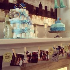 Baby shower photo valance