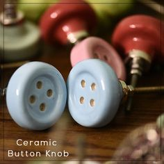 Online ceramic button knob available on our website at discounted price. Kitchen Door Knobs, Kids Room Furniture, Ceramic Knobs, Ceramics, Handmade Ceramic, Glass, Drawers, Website, Button