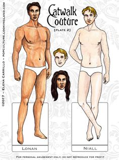 Catwalk Couture: Meet Lonan and Niall ~ Pop Culture Paper Dolls