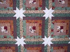 quilt patterns for beginners free online   Quilt in a Day - My Star Log Cabin quilt - El's Corner: Star Log Cabin ...