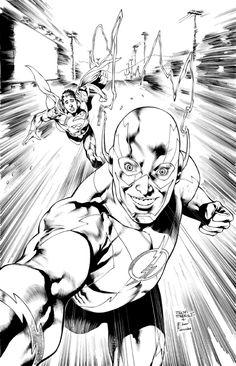 Flash 34 - Selfie Variant  Comic Art