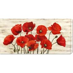 Serena Biffi 'French Poppies' Stretched Canvas | Overstock.com Shopping - Top Rated Canvas