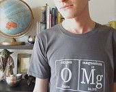 OMG Periodic Table Women's T-Shirt by Periodically Inspired - Large, Beryllium Black. $20.00, via Etsy.