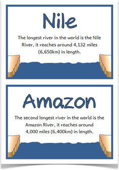 KS2 Geography | KS3 Geography | Geography for kids | river facts ...