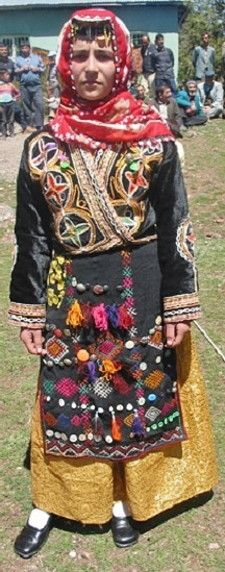 Traditional festive costume from the Sivas province.  Rural style, mid-20th century.