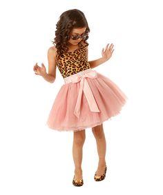 Pretty Cute Pink & Brown Leopard Tutu Dress - Toddler & Girls | zulily