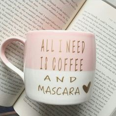 This is pretty much how I start each morning! Coffee and then mascara!