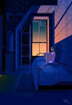 Pascal Campion: una mancha de pintura azul en una maceta