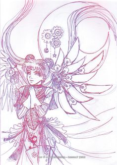 Steam Punk Sailor Moon Contest - sketch by 8jessica7.deviantart.com