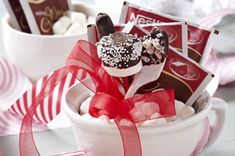 Hot Cocoa Gift with Holiday Dippers *replaced coffee stirrer with candy cane