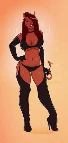 Devil Girl Pinup 3 by TheCosbinator on DeviantArt Anime Sexy, Sucubus Anime, Anime Girl Hot, Anime Art Girl, Female Demons, Comic Art Girls, Anime Devil, Demon Art, Girl Sketch