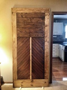 Reclaimed wood and flooring door for a sliding metal track.  $525 Loft Furniture, Hippie Life, Repurposed, Restoration, Track, Flooring, London, Metal, Wood