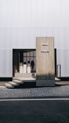 BEYUNIQUE: [Interior Design] ACNE Studios Flagship Store in Cheongdam, Seoul You are in the right place about facade material Here we offer you the most beautiful pictures about the simple facade you Entrance Design, Facade Design, Door Design, Exterior Design, House Design, Commercial Architecture, Interior Architecture, Retail Facade, Interior Design Courses