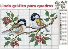 Cross-stitch birds ♡♡♡