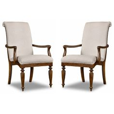 Hooker Furniture Cecile Dining Armchair (€805) ❤ liked on Polyvore featuring home, furniture, chairs, dining chairs, set of two chairs, weathered furniture, distressed furniture, hand made furniture and handcrafted furniture