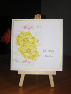 Thank you card made with Altenew beautiful day stamps