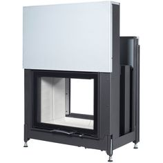 Austroflamm 66x51S Double Sided Wood Burning Built-In Stove - Flat Sliding Doors
