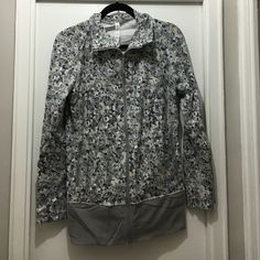 saleLululemon Nice Asana Jacket Nice Asana Jacket in Grey and beige pattern. This has barely been worn and is in great condition! The sleeves have been hemmed (see the last picture). lululemon athletica Jackets & Coats