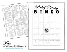 Relief Society Birthday Bingo Party. This sounds like fun. - - get to know you night