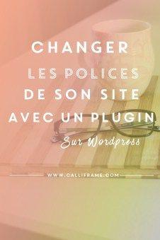 Changer les polices dans wordpress avec WP Google Fonts
