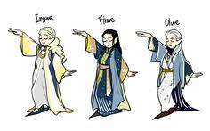 Ingwë, Finwë and Olwë