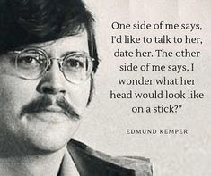 Edmund Kemper aka the Co-ed Killer is a serial killer who murdered 8 people in 1972-73 including his mother. Ed murdered his grandparents in 1964, when he was 15 years old. Click to read more true crime cases and true crime stories