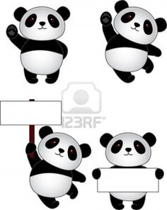 Funny panda cartoon  Stock Photo - 13393565