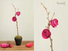 Bonitas rosas de papel para decorar tu hogar
