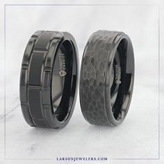 Trust Us, This Is Not Boring! Are Dark Rings are a customer favorite and are 20% off for a limited time, including our new black titanium styles. Find the ring you've been wanting today and use code DARK20 until 10/15. Tungsten Wedding Rings, Wedding Bands, Trust, Rings For Men, Dark, Jewelry, Style, Swag, Men Rings