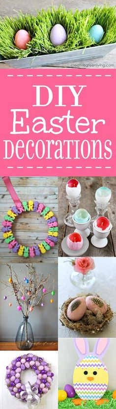 Pretty and bright DIY Easter Decorations that will bring a touch of cheery Spring into your home for Easter. These are so cute and easy! Ideas Para Organizar, Diy Easter Decorations, Easter Activities, Easter Celebration, Easter Holidays, Cool Diy Projects, Easter Crafts, Holiday Fun, Diy Gifts
