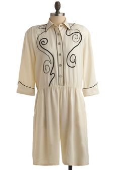 Vintage Long and Winding Rodeo Romper. Saddle up for a day of simple style with this vintage romper stowed in your steamer trunk.  #modcloth