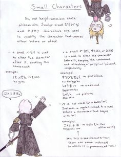 Jap. lesson 4:Small Characters by *koumori-no-hime on deviantART