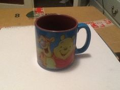 This is a picture of my favorite coffee mug, tigger and whinnie the pooh are my favorite characters out of the story whinnie the pooh and the color of the mug blue well blue is my favorite color I simply just love it