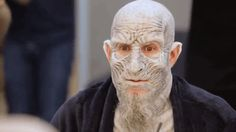 Scott Ian of Anthrax becomes the White Walker in Game of Thrones, thanks to makeup artist Barry Gower.