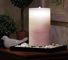 As Is Bethlehem Lights 8.5 Flameless Candle- sounds of flowing water