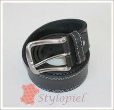 Cinturón hombre flor costura