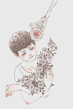 Find images and videos about art, flowers and illustration on We Heart It - the app to get lost in what you love. Art Sketches, Art Drawings, Illustrations, Beautiful Drawings, Oeuvre D'art, Cute Art, Digital Illustration, Art Inspo, Bunt