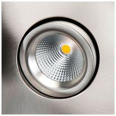 LED inbouwspot 8W geborsteld staal draai en kantelbaar vierkant 2700K SG 997343